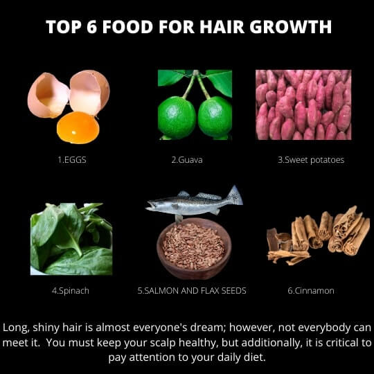 top 6 food for hair growth HAIR GROWTH SHAMPOOS